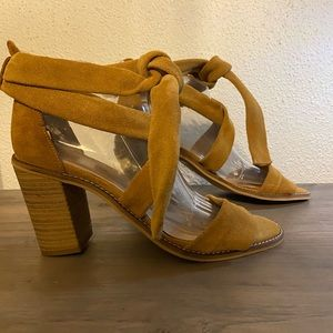 Musse&Cloud tan suede strappy sandals size 10